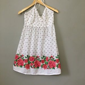 Divided | White Rose Flower Mini Summer Dress - 6